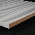3D Wand 047 aus gefrästem MDF Holz, weiß grundiert