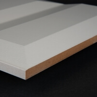 3D Wand 049 aus gefrästem MDF Holz, weiß grundiert