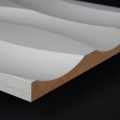 3D Wand 052 aus gefrästem MDF Holz, weiß grundiert