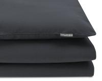 Schöne Kinderbettwäsche in uni dunkelgrau aus zertifizierter Baumwolle