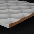 3D Wand 059 aus gefrästem MDF Holz, weiß grundiert