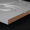 3D Wand 064 aus gefrästem MDF Holz, weiß grundiert