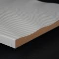 3D Wand 065 aus gefrästem MDF Holz, weiß grundiert