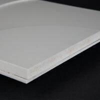 3D Wand 066 aus gefrästem MDF Holz, weiß grundiert