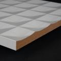 3D Wand 067 aus gefrästem MDF Holz, weiß grundiert