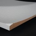 3D Wand 068 aus gefrästem MDF Holz, weiß grundiert
