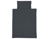 Kinderbettwäsche dunkelgrau in 90x120 cm und 100x135 cm