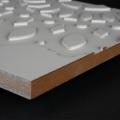 3D Wand 071 aus gefrästem MDF Holz, weiß grundiert