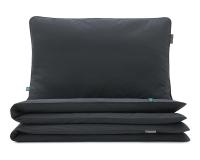 Kinderbettwäsche dunkelgrau uni aus hochwertiger Baumwolle
