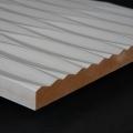 3D Wand 083 aus gefrästem MDF Holz, weiß grundiert