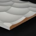 3D Wand 088 aus gefrästem MDF Holz, weiß grundiert