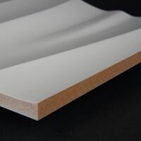 3D Wand 089 aus gefrästem MDF Holz, weiß grundiert