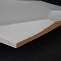3D Wand 090 aus gefrästem MDF Holz, weiß grundiert