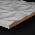 3D Wand 092 aus gefrästem MDF Holz, weiß grundiert