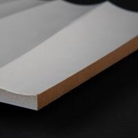 3D Wand 044 aus gefrästem MDF Holz, weiß grundiert