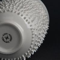 Kina Ceramics Spiky weiß handgefertigter Teebecher aus Porzellan