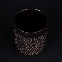 Kaffeebecher ohne Henkel aus edlem Porzellan Spiky Metallic von Kina Ceramics