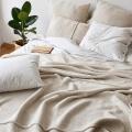 moyha Jersey Dream weiß Kissenbezüge mit Holzknöpfen