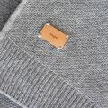 Kuscheldecke Feinstrick grau Simple moyha