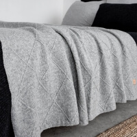 Graue Feinstrick Decke Shape grau