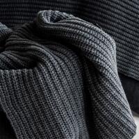 moyha Soft weave Kuscheldecke dunkelgrau