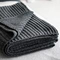 moyha Soft weave Strickdecke dunkelgrau