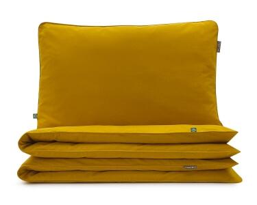 Bettwäsche gelb uni aus hochwertiger Baumwolle