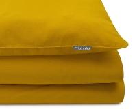 Schöne Kinderbettwäsche in uni gelb aus zertifizierter Baumwolle