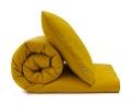 Senfgelbe Baumwoll-Kinderbettwäsche in Uni Farben