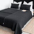moyha Tagesdecke Premium Wool dunkelgrau