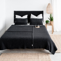 moyha Überwurf Premium Wool dunkelgrau