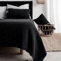 moyha Bettüberwurf Premium Wool dunkelgrau