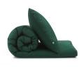 Dunkelgrüne Baumwoll-Bettwäsche in Uni Farben