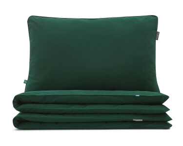 Bettwäsche grün uni aus hochwertiger Baumwolle
