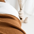 moyha Lazy Morning Strick Wohndecke kamel