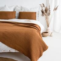 moyha Lazy Morning Strick Tagesdecke kamel
