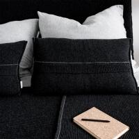 moyha Strick Dekokissen Premium wool dunkelgrau