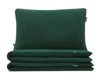 Kinderbettwäsche grün uni aus hochwertiger Baumwolle