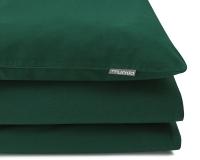 Schöne Kinderbettwäsche in uni grün aus zertifizierter Baumwolle