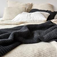 moyha Sleepy Grobstrick Dekokissen beige 50x50