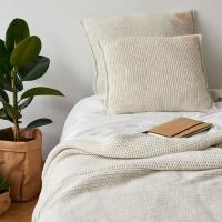 moyha Sleepy Strick Dekokissen beige 50x50