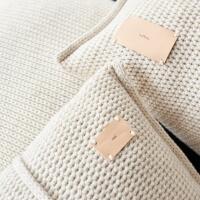 moyha Sleepy Strick Zierkissen beige 50x50