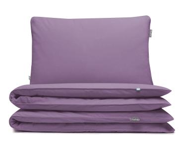 Bettwäsche lila uni aus hochwertiger Baumwolle