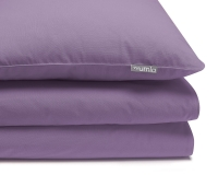 violette Baumwoll-Kinderbettwäsche in Uni Farben