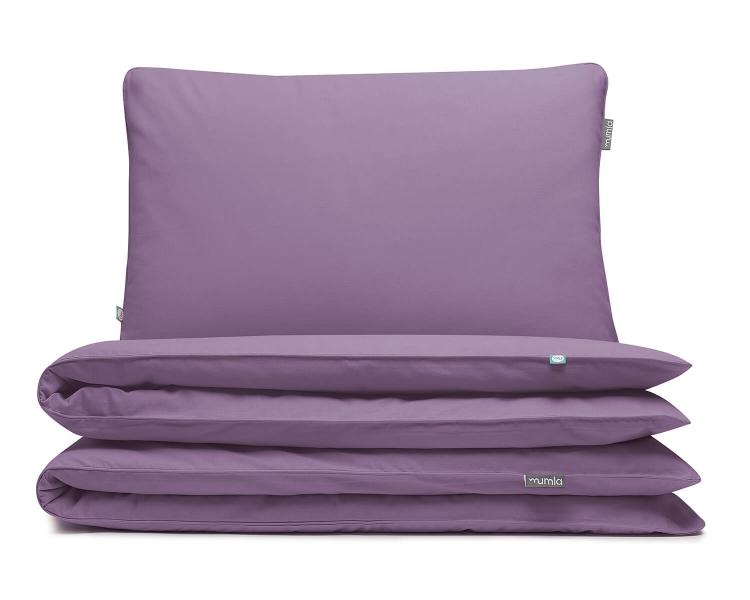 Kinderbettwäsche lila uni aus hochwertiger Baumwolle