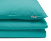Türkis grüne Baumwoll-Bettwäsche in Uni Farben
