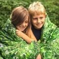 Hayka Alpen Wiese Kinderbettwäsche grüner Sommer von Foonka