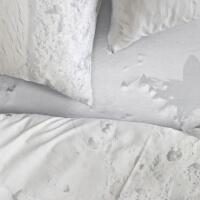 Schnee Bettlaken mit Gummizug Hayka von Foonka