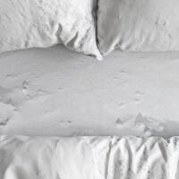 Foonka Spannbettlaken Schnee Optik Hayka