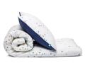 Schöne Kinderbettwäsche Punkte blau Konfetti aus zertifizierter Baumwolle